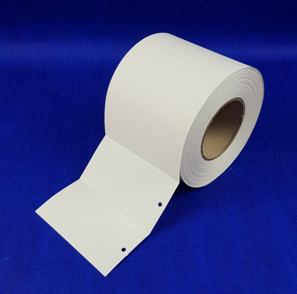 Large Label Carriers (Punched hole) 1000 per roll