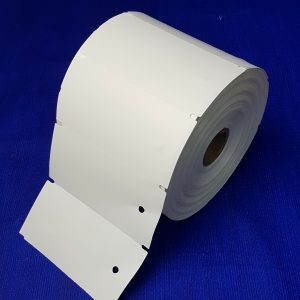 Non-Adhesive Parts Tags (Punched hole) 1000 per roll - White