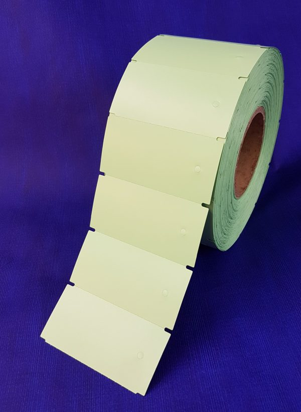 Non-Adhesive Parts Tags (Punched hole) 1850 per roll - Green