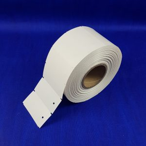 Non-Adhesive Parts Tags (Punched hole) 1850 per roll - White